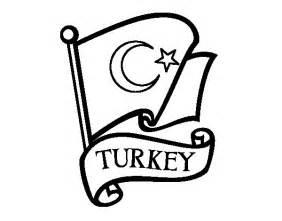 coloriage de drapeau de turquie pour colorier coloritou com