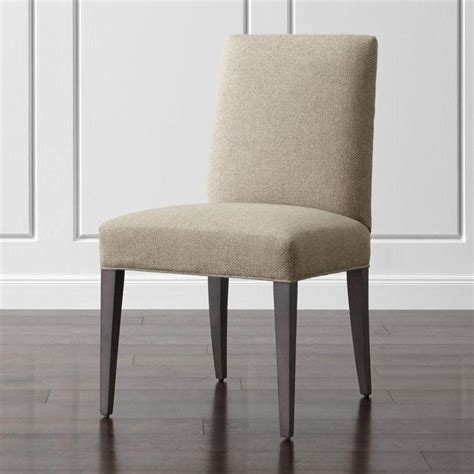Upholster Dining Chair Beige Armless Upholstered Dining Chair