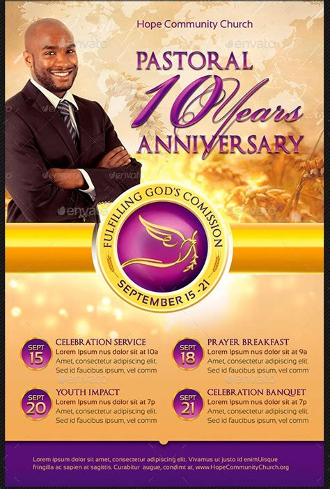 Pastor Appreciation Flyer Templates Inspiks Market Pastor Anniversary Flyer Free Template