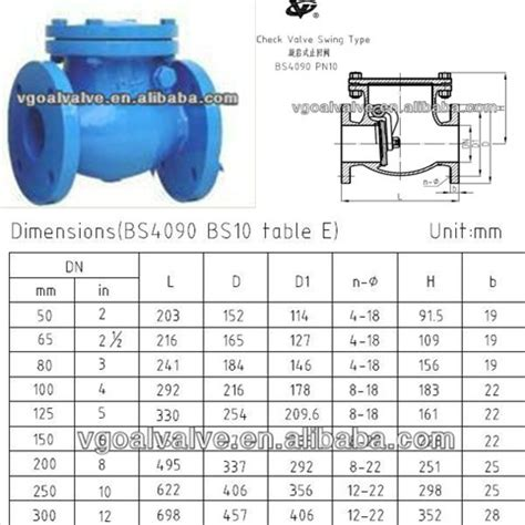 swing check valve dimensions bs4090 swing check valve from qingdao v goal marine valve