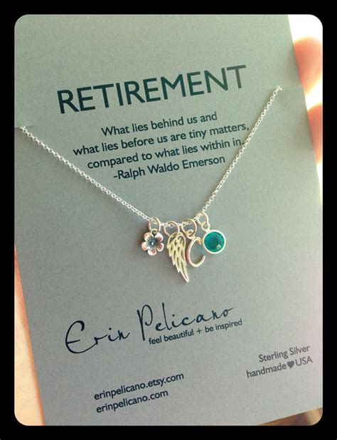 retirement gift charm necklace personalized