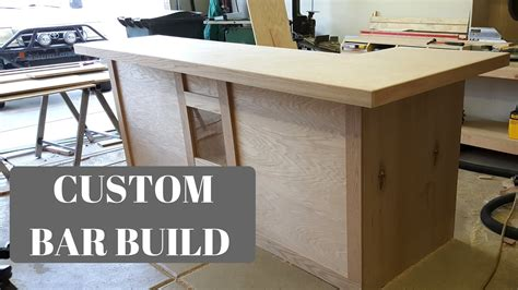 build bar top custom bar build youtube