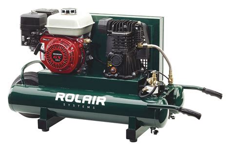 rolair 9 gal 5 5 hp wheelbarrow portable gas air compressor 40kj42 4090hmk113 0001 grainger