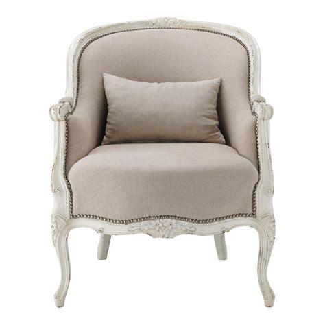 Linen Armchair by Linen Armchair Montpensier Maisons Du Monde