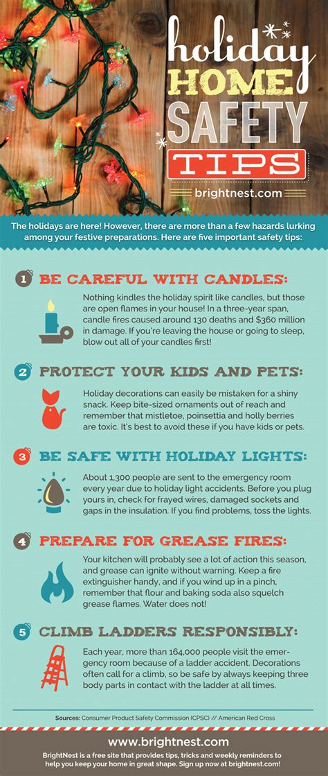 home safety tips safety infographic and holidays