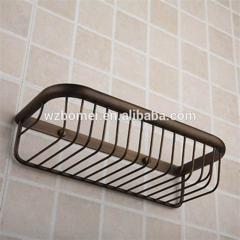metal bathroom basket antique wall mounted metal brass bathroom wire basket