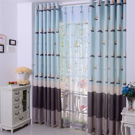 Nautical Blackout Curtains Custom Blackout Blue Nautical Curtains