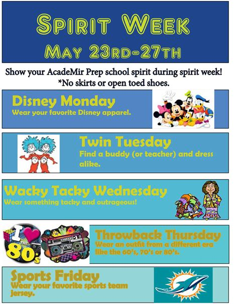 May 2016 Apa News Room Free Spirit Week Flyer Template
