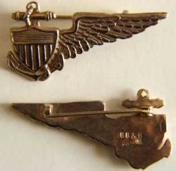 Stiker Karet Patch Airsoft Unity wwi navy balloon wing sterling gold plate bb b bay listings