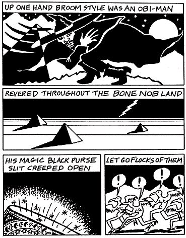 golden birdies by captain beefheart, comic by mary fleener