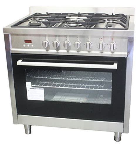 Oven Gas Cosmos Cosmo 36 Quot Stainless Steel Freestanding Range W 5 Burners By Oooopage07