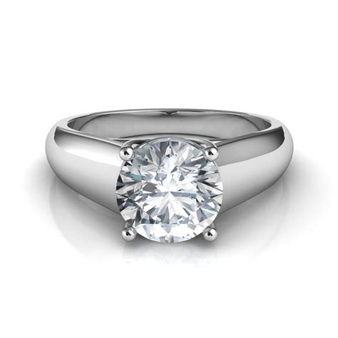 lucida wide band solitaire engagement ring
