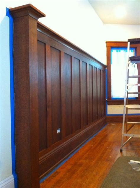 Wood Wainscotting by Stained Solid Wood Wainscoting Foyer Dining Room