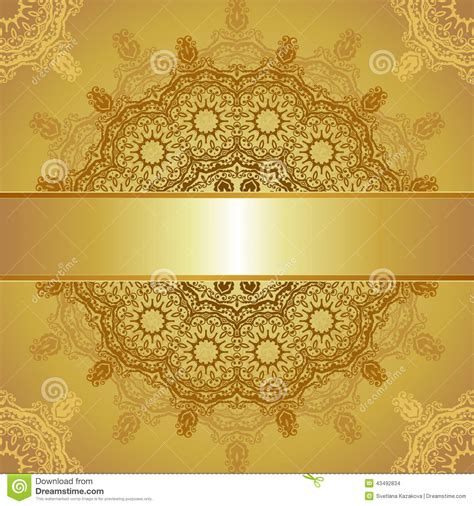 osaa gold card template gold template for greeting card stock vector image 43492834