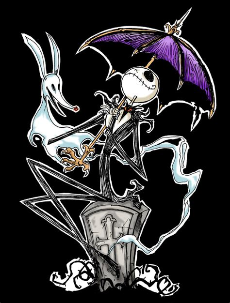 imagenes of jack jack skellington with umbrella by favius on deviantart