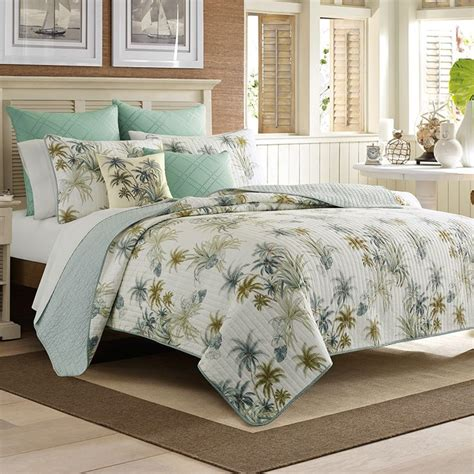 Tropical Bed Quilts by Bahama Serenity Plams Quilt Bedroom
