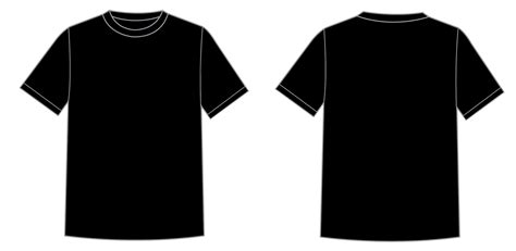 design a shirt front and back plain black t shirt front and back clipart best
