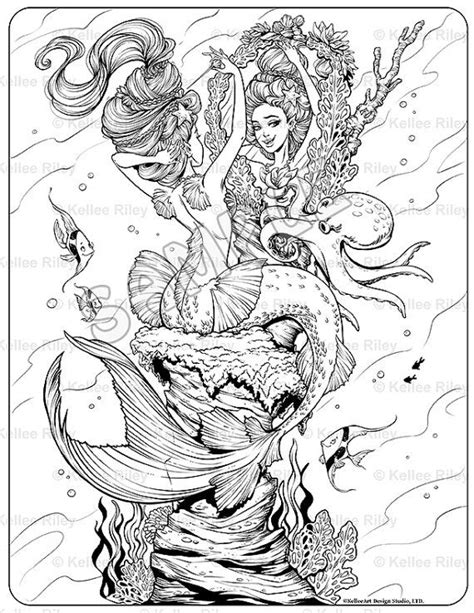 mermaids for adults coloring pages mermaid s night out adult coloring page adult coloring