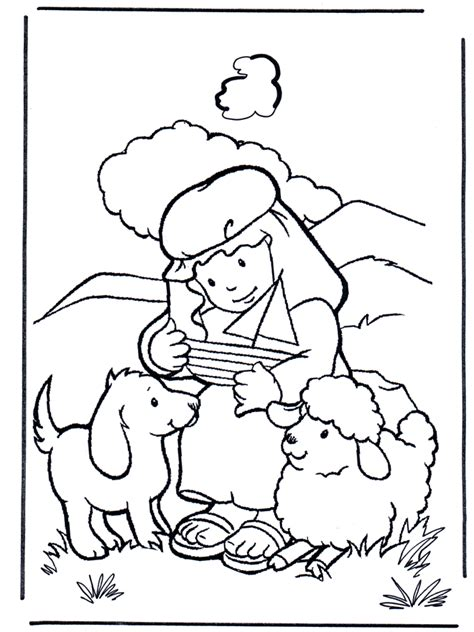 David Coloring Page david shepherd testament