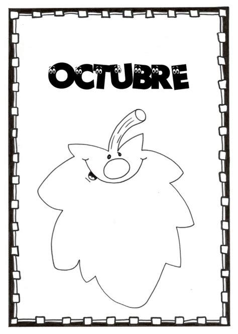 imagenes del nombre octubre carteles del mes de octubre para colorear y compartir