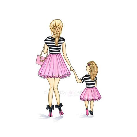 pictures easy mother daughter drawings drawings art