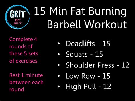 15 minute burning barbell workout