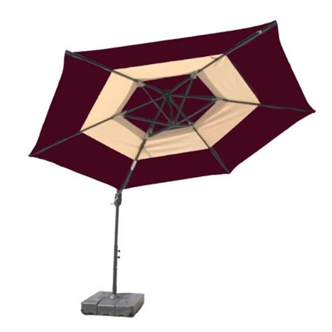 Offset Patio Umbrella Base Umbrella Stand Patio Umbrella At Leisure Offset 2 Tone Umbrella With Base 10 Brick