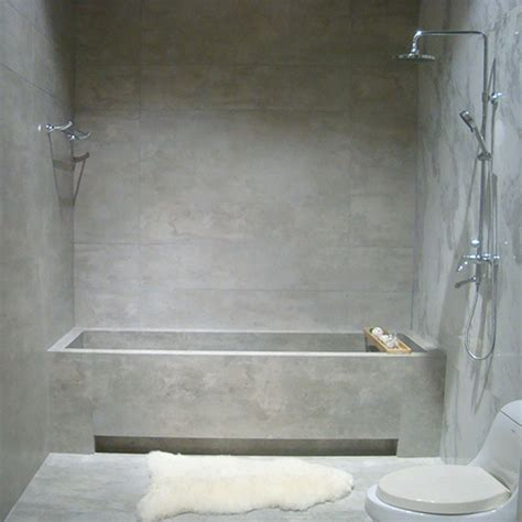 Cement Bathroom Tiles by Light Grey Concrete Look Tiles For Walls Floors
