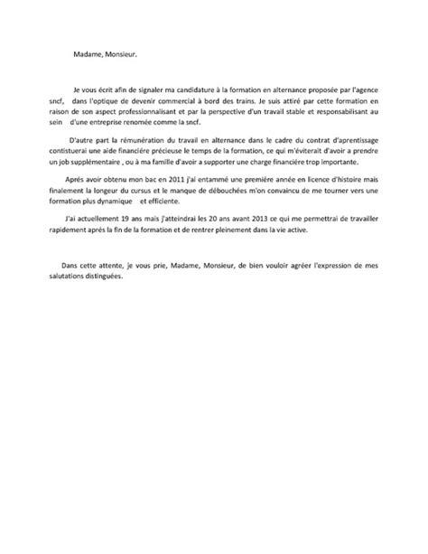 Exemple Lettre De Motivation Sncf Modele Lettre De Motivation A La Sncf Document
