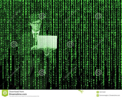 Stickercoverskingarskinprotector Notebook The Matrix Binary digital hologram in a matrix style a person with laptop is browsing data in the stock