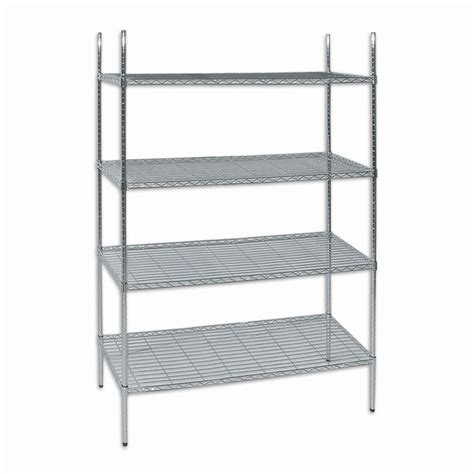 chrome wire mesh shelving 2030 x 1200 x 460mm