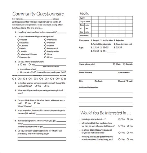 Community Survey Template Survey Questions Template 10 Free Word Excel Pdf Documents Download Free Premium Templates
