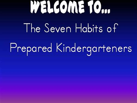 Habits Ppt 7 Habits Of Happy K Authorstream
