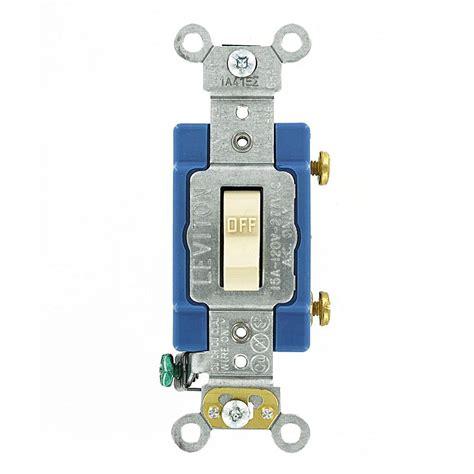 leviton 15 amp industrial grade heavy duty single pole toggle switch ivory 1201 2i the home depot