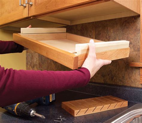under cabinet drawer slides kid safe under the cabinet knife drawer home design
