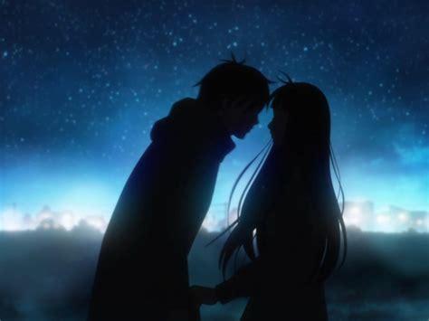 imagenes anime love kiss versos de amor
