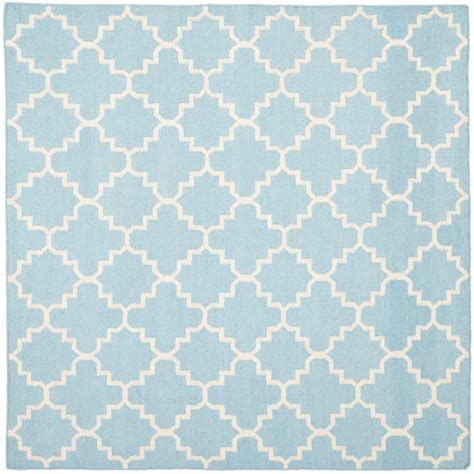 8 ft square rug safavieh dhurries light blue ivory 8 ft x 8 ft square area rug dhu554b 8sq the home depot