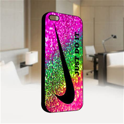 Iphone 4 4s Nike Orange Hardcase nike just do it rainbow sparkle glitter from theartoffandi on