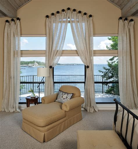 Curtains For 10 Foot Ceilings Master Bedroom And Bathroom Traditional Bedroom Houston By Carla Aston Interior Designer