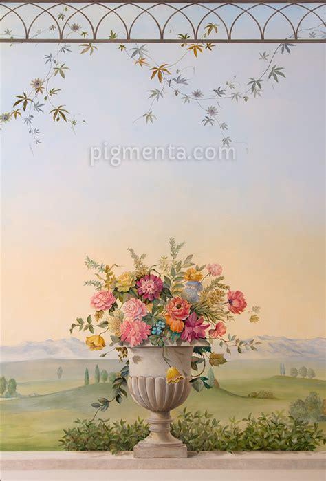 mobili decorati con fiori pigmenta pittura e decorazione murale per bar e ristoranti