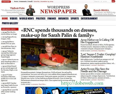 theme newspaper demo 15 professional news wordpress themes dobeweb