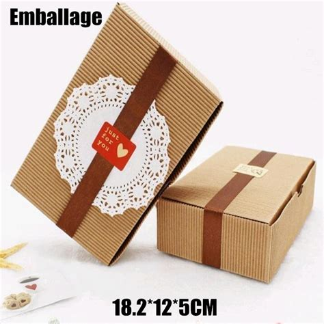 Handmade Gift Packing - aliexpress buy sle handmade kraft paper box