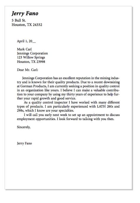 exle of quality control cover letter http