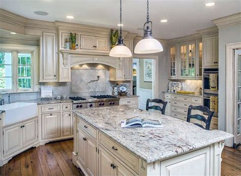 best granite color for off white cabinets 26 gorgeous white country kitchens pictures designing idea