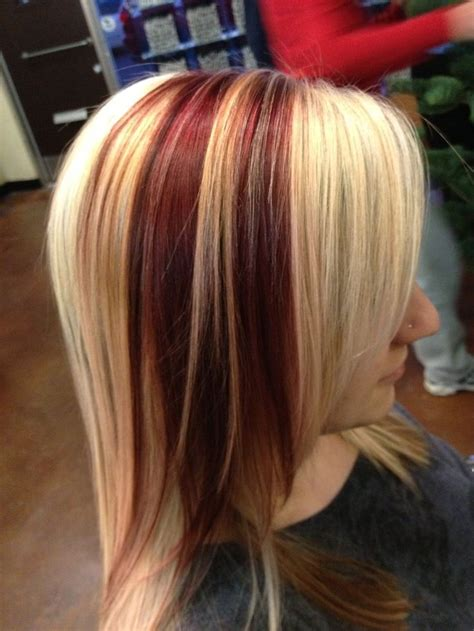 blonde and burgundy hairstyles 47 best images about blonde color on pinterest cool