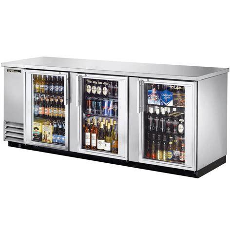 Bar Fridge Glass Door True Tbb 4g S Ld 90 Quot Stainless Steel Glass Door Back Bar Refrigerator With Led Lighting