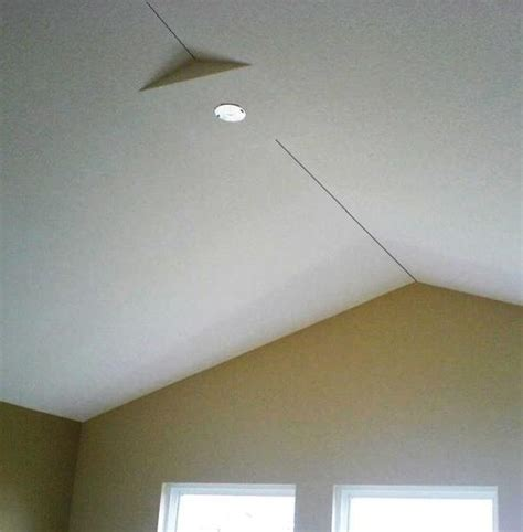 Ceiling Fan Vaulted Ceiling Peak Electrical Boxes For Lights Left Outside Of Walls By