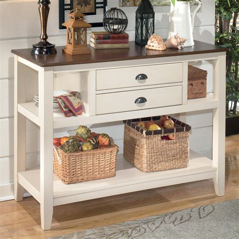 dining room server signature design by ashley whitesburg d583 59 two tone