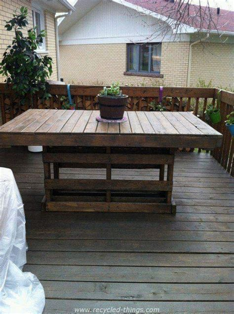 Pallet Patio Table Wood Pallet Outdoor Ideas Recycled Things