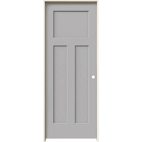 Shop Jeld Wen Craftsman Driftwood Shop Jeld Wen Craftsman Driftwood 3 Panel Craftsman Single Prehung Interior Door Common 30 In